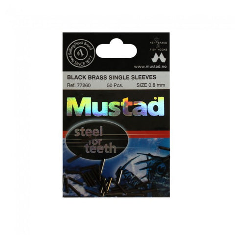 mustad black brass sleeves crimps