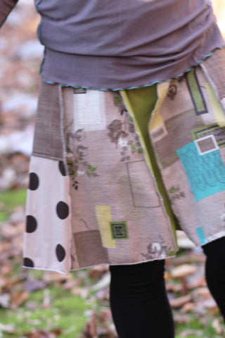 Brown and Green skirt - SOLD