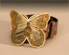 Brown Butterfly mosaic buckle