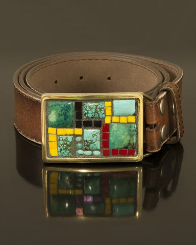 Study in Stone mosaic buckle