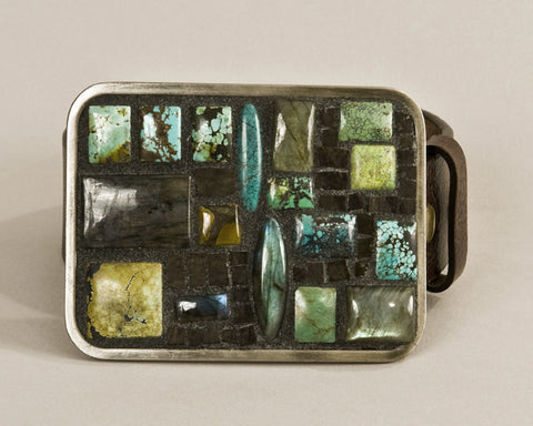 Turks & Labs large mosaic buckle