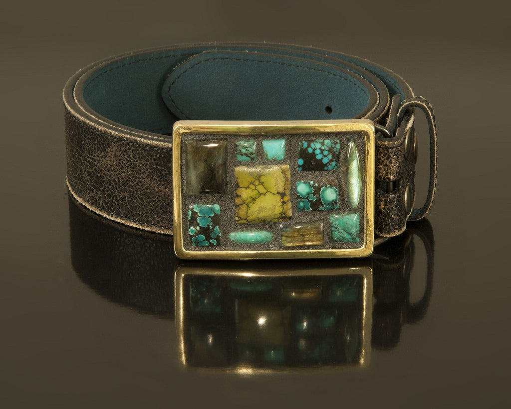 Turks & Labs small mosaic buckle