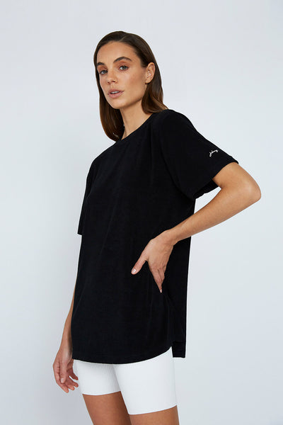 The UNISEX Terry Tee - Black
