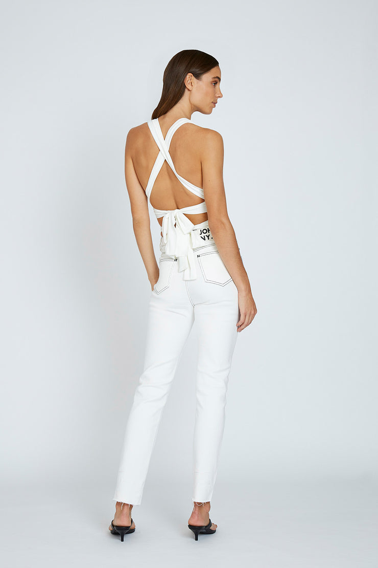 Kay Wrap Top - White