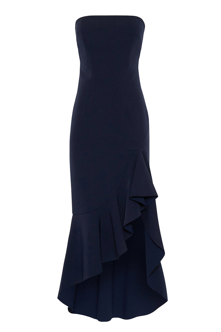 Strapless Wave Gown | Final Sale - Royal Navy