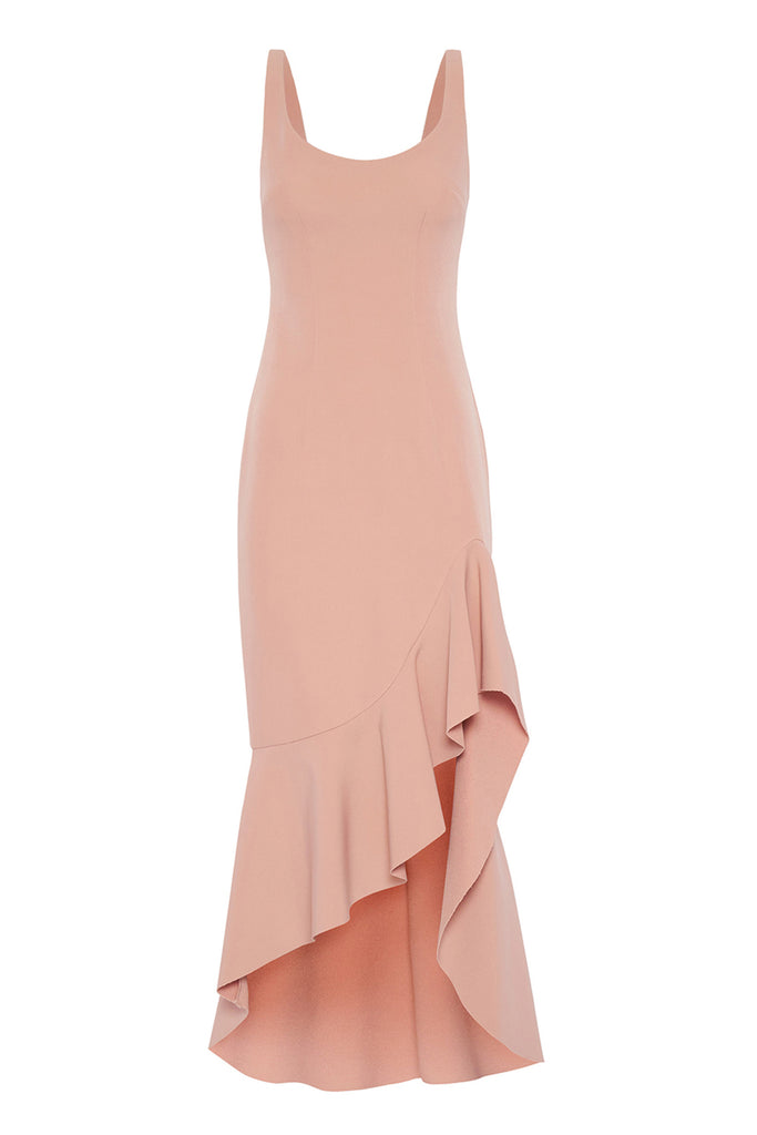 Spiral Wave Gown - Dusty Rose