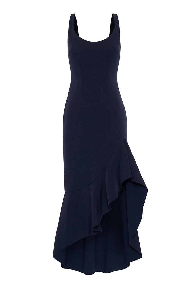 Spiral Wave Gown - Royal Navy
