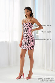 Strawberry Leopard Mini Dress