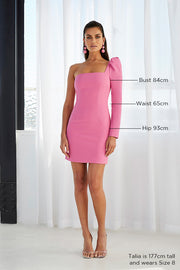 Shell Sleeve Mini Dress - Party Pink