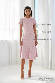 Zoe Tweed Bias Midi Dress | Final Sale