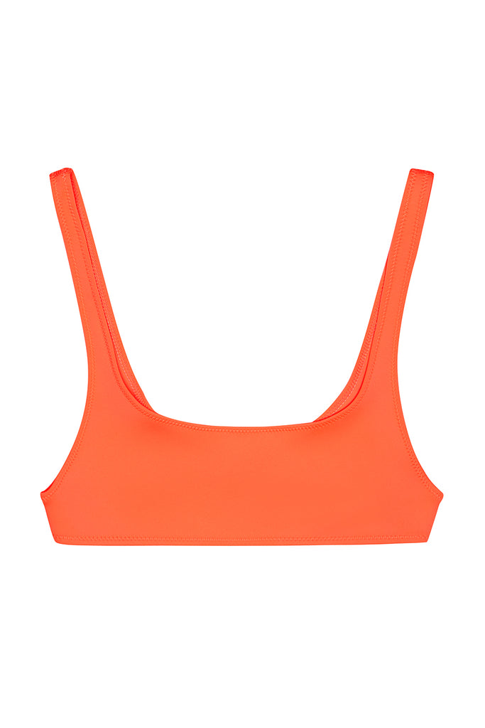 The Archie Sports Top - Neon Orange