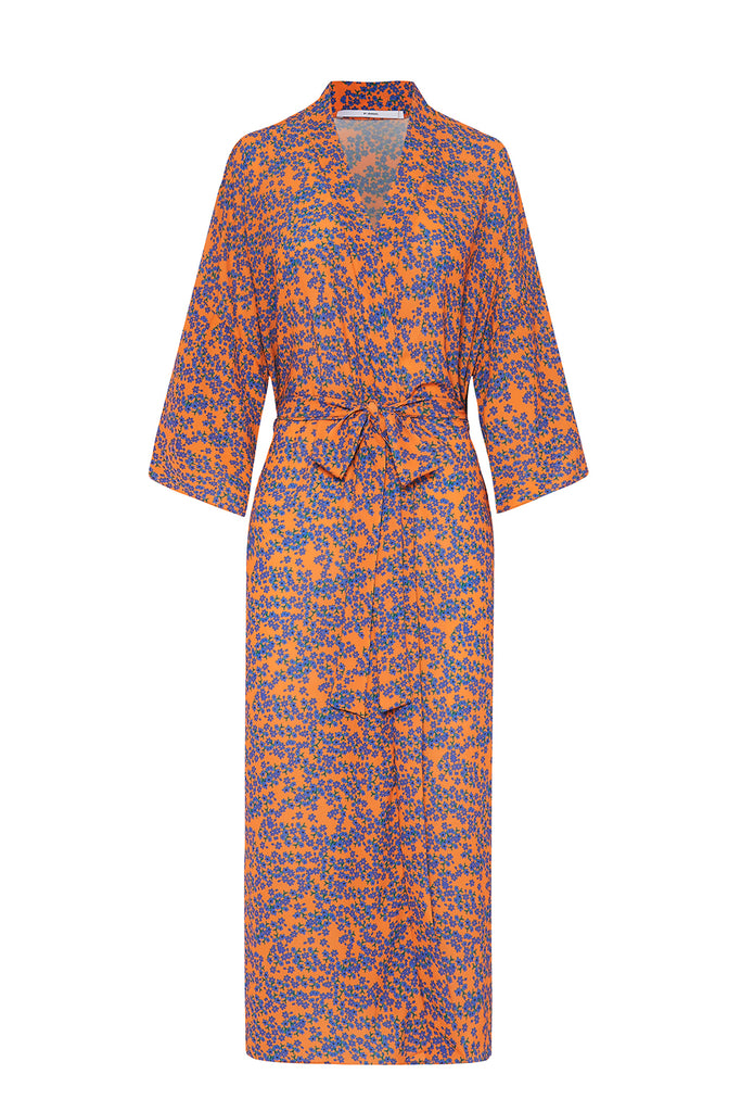 The Johnny Robe - Mango Blue Floral