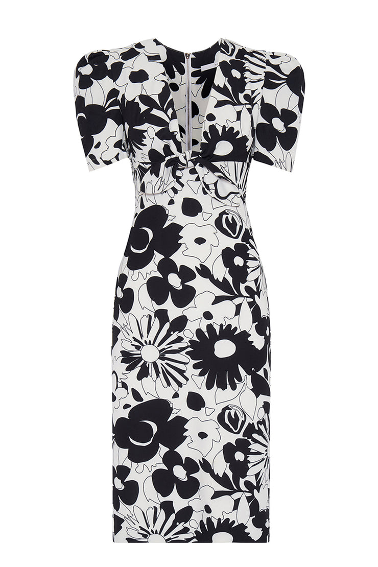 Floral Tie Front Tee Dress | Final Sale