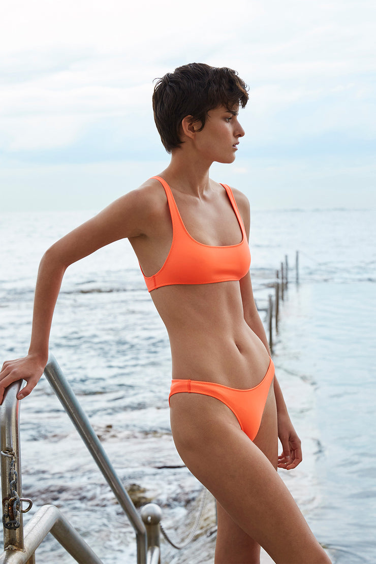 High Rise Bailey Skinny Bottom | Final Sale - Neon Orange