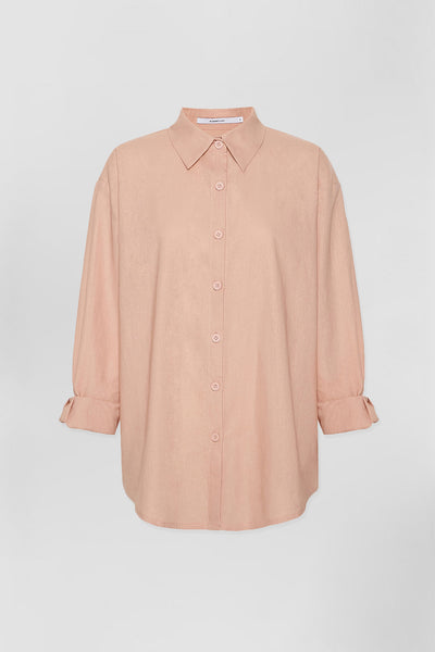 UNISEX Leo Linen Shirt - Blush | Final Sale