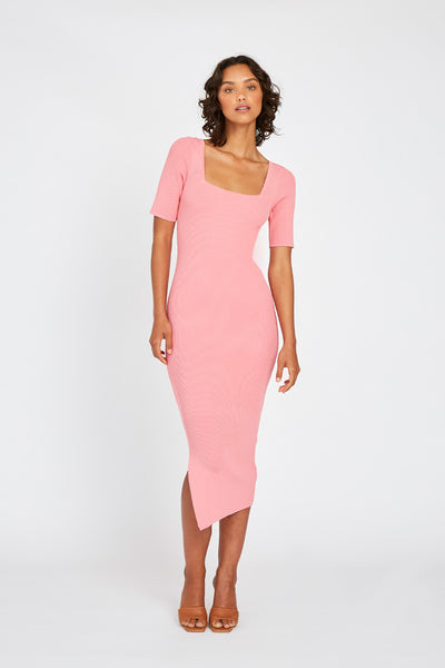 Frame Knit Dress - Pink