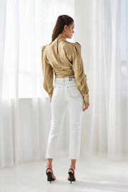 Gold Foil Cuffed Top