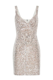 Luna Sequin V Mini Dress