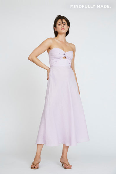 Billie Strapless Dress - Lilac