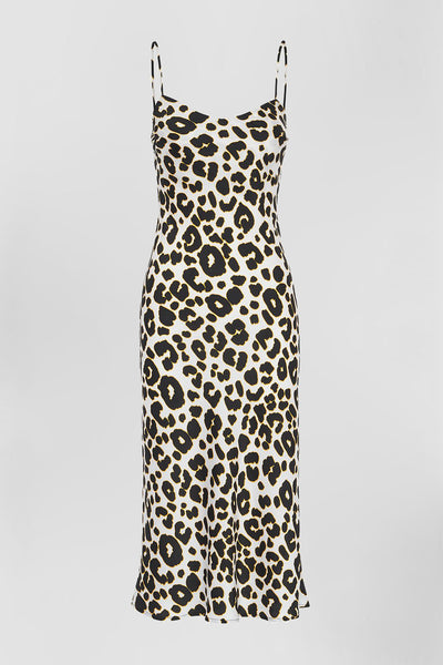 Leopard Bias Midi Dress | FINAL SALE