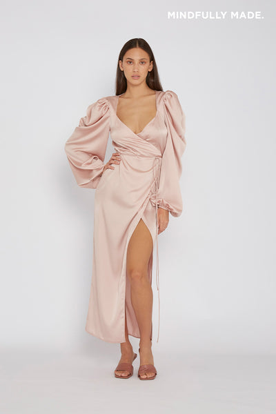Jayme Robe Wrap Dress - Pink