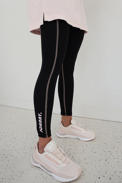 PRE ORDER | JOHNNY. Lounge Leggings - Black Pink