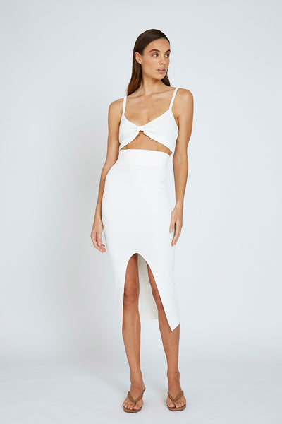 Alice Split Skirt - White