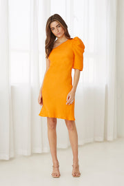 Shell Shoulder Sleeve Mini Dress | Final Sale