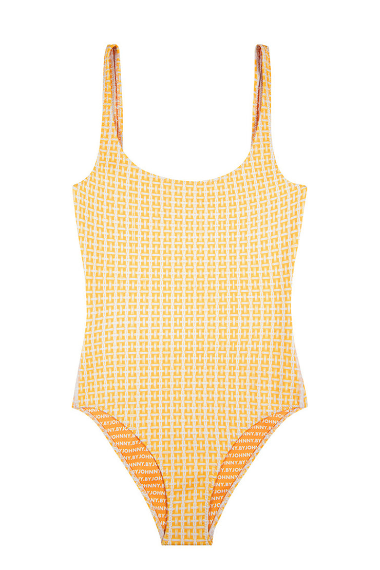 The Lani One Piece | Final Sale - Yellow Raffia
