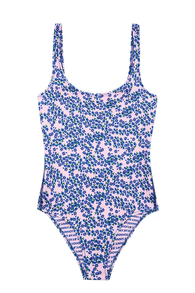 The Lani One Piece - Strawberry Floral