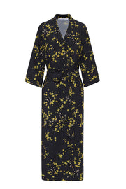 The Johnny Robe - Black Yellow Floral