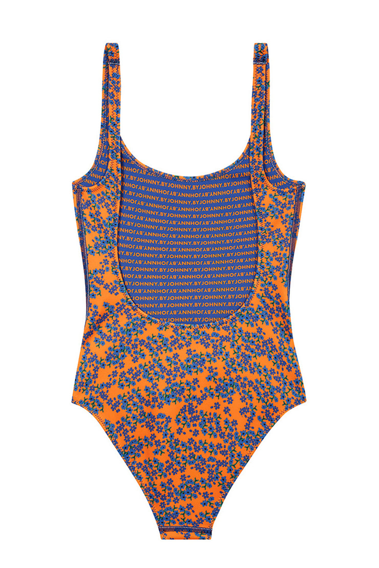 The Lani One Piece | Final Sale - Mango Blue Floral