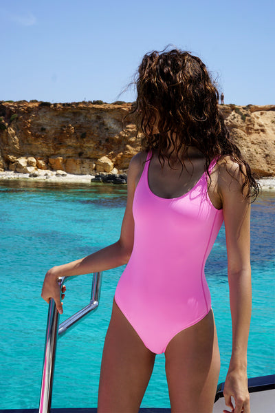 The Lani One Piece | Final Sale - Bright Pink