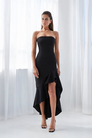 Strapless Wave Gown - Black