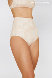 The Riley High Waisted Bottom - Bone