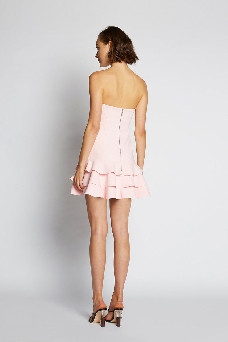 Calla Frill Strapless Dress | Final Sale