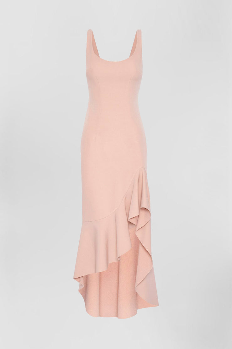 Spiral Wave Gown | Final Sale - Dusty Rose