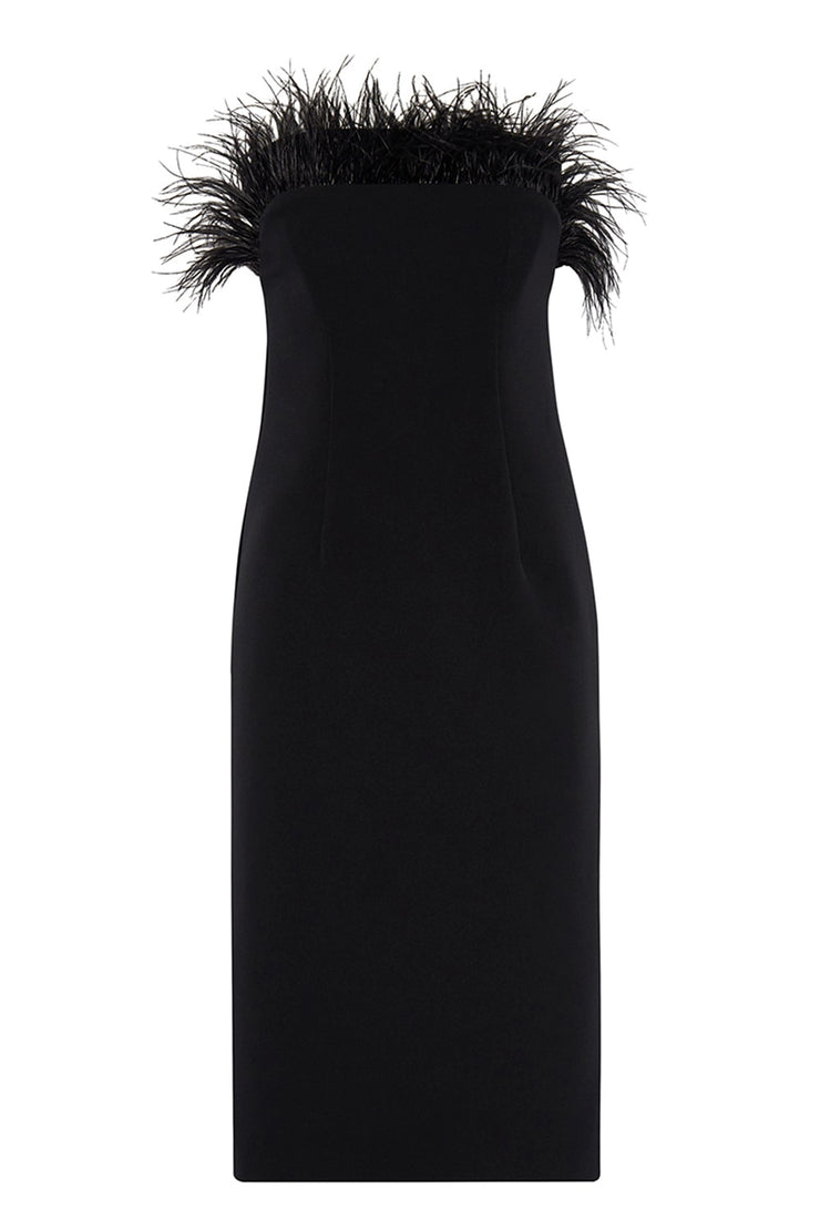 Johnny Feather Midi Dress