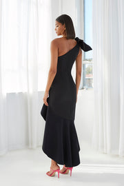Tie Shoulder Wave Gown | Final Sale - Black