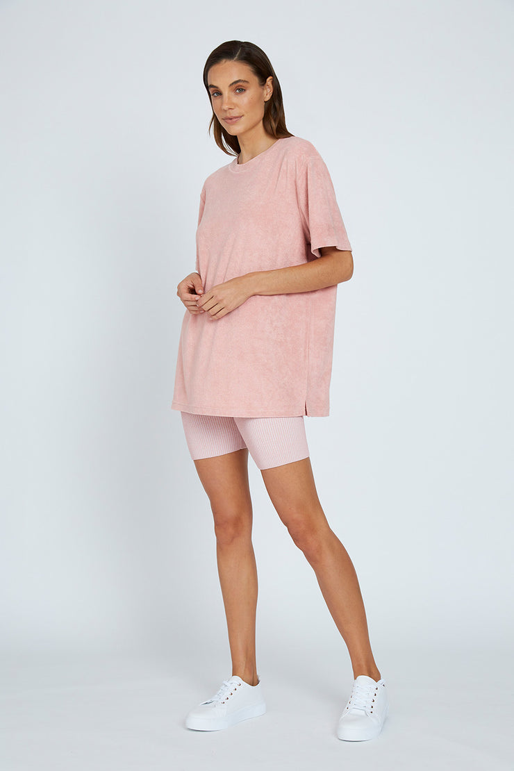 The UNISEX Terry Tee - Pink