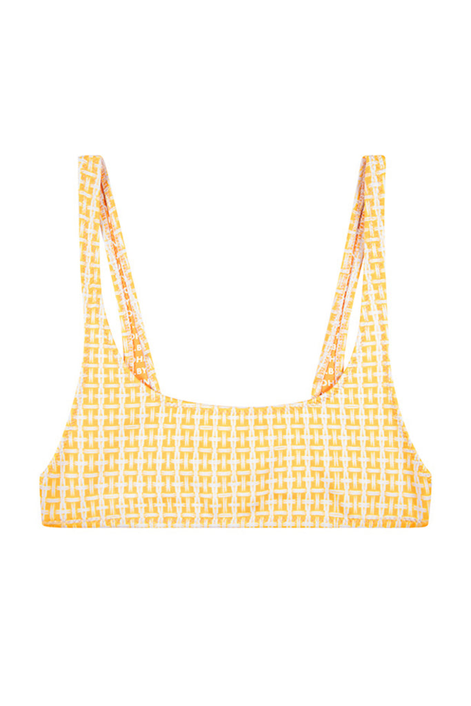 The Archie Sports Top | Final Sale - Yellow Raffia