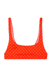 The Archie Sports Top | Final Sale - Tangerine Polka