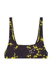 The Archie Sports Top | Final Sale - Black Yellow Floral