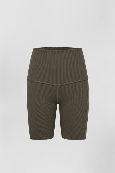Rib Bike Shorts - Khaki | Final Sale
