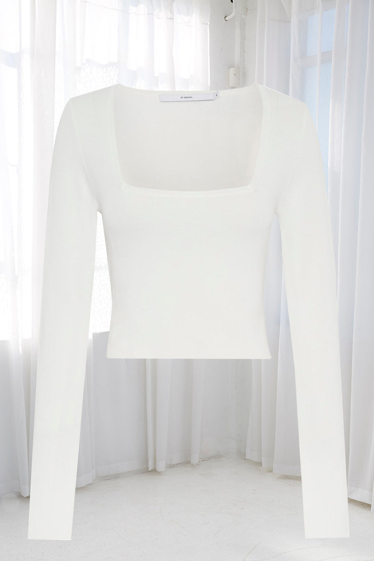 Clare Crop Sleeve Top | Pre-Order - White