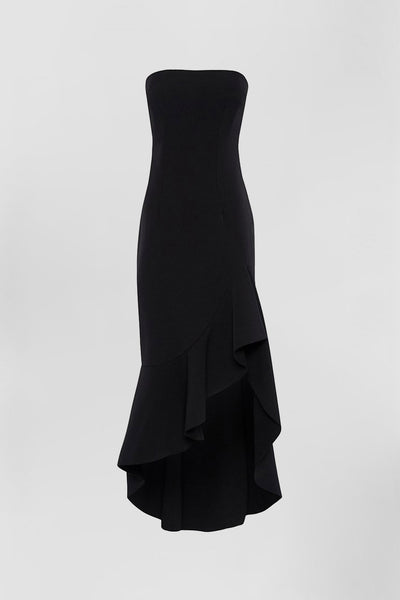 Strapless Wave Gown | Final Sale - Black