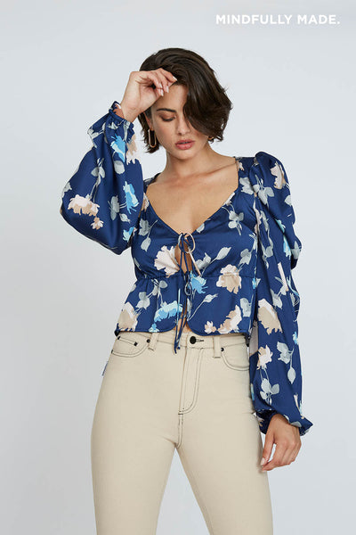 Florence Roule Tie Blouse