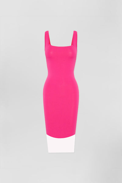 Prim Stripe Knit Midi - Pink/White | Final Sale