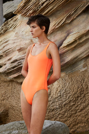 The Lani One Piece | Final Sale - Neon Orange