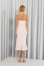 Shoe String Rising Frill Dress | Final Sale - Lilac White